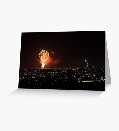 The Finale - Australia Day Fireworks 2008  Greeting Card