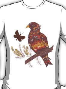 Bird with Flowers 2 T-Shirt