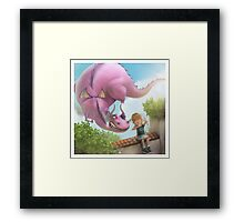 Girlie Dragon Framed Print