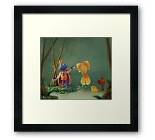 Minus the Frog Framed Print