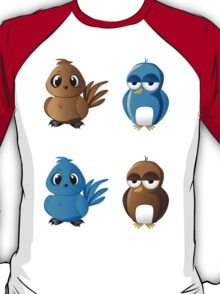 Brown and blue birds T-Shirt