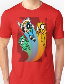 A mashup of Adventure Time and the Power Puff team T-Shirt