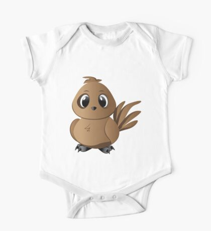 Brown Bird One Piece - Short Sleeve