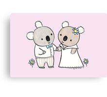 Koala Wedding Canvas Print