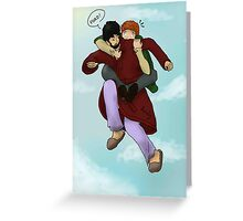 Flying Lessons Greeting Card