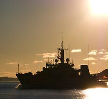 HMCS GOOSE BAY by Sandy  McClearn