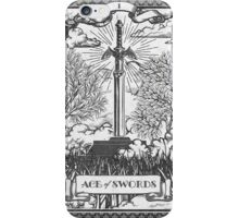 Vintage Legend of Zelda Master Sword Tarot iPhone Case/Skin