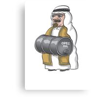 OPEC oil man Canvas Print