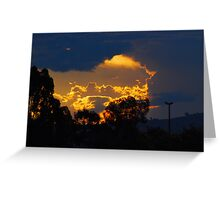 Urban sunset... Greeting Card