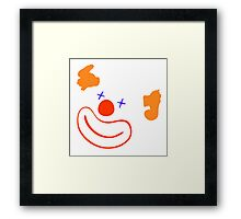 happy clown Framed Print