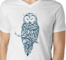 Snow Owl  Mens V-Neck T-Shirt