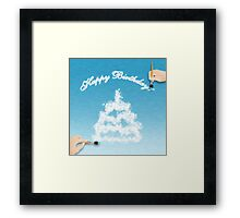 Happy Birthday card Framed Print