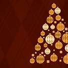 Argyle Christmas - Red by ACImaging