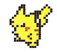 post it pikachu Photographic Print