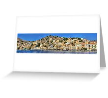 Symi Town Greeting Card