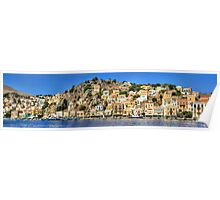 Symi Town Poster