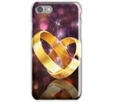 Romantic background with wedding rings 5 iPhone Case/Skin