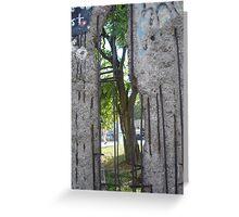 Through the Berlin Wall  Greeting Card
