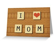 Scrabble letters 2 Greeting Card