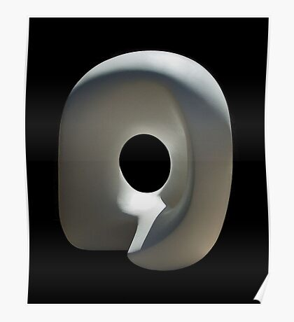 Abstract sculpture Poster