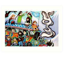 The Magic School Bus Art Print