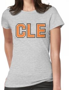 Retro 80s CLE Womens Fitted T-Shirt