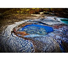 Water pools in sink holes on the shore of the Dead Sea Photographic Print