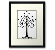 Tree of Gondor (navy) Framed Print