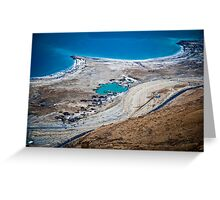 Israel, Dead Sea landscape view Greeting Card