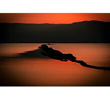 Israel, Dead Sea landscape view at dawn  Photographic Print