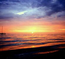 Sunset over Cape Cod Bay by buddykfa