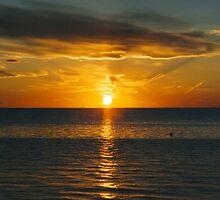 Sunset on Cape Cod Bay by buddykfa