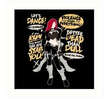 The Sinister Blade Art Print