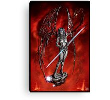 Robot Angel Painting 007 Canvas Print