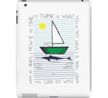 Old man and the sea iPad Case/Skin