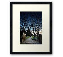 The Gate Into The Night Framed Print