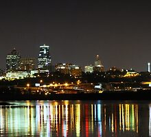 Reflections at Kaw Point in Kansas City by Catherine Sherman