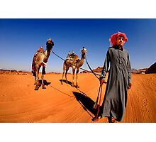 A Bedouin with his two camels.  Photographic Print