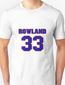 National football player Justin Rowland jersey 33 T-Shirt