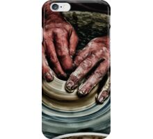 Hands of a potter  iPhone Case/Skin