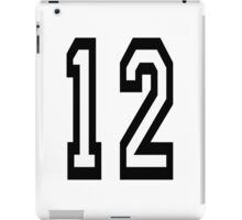 12, TEAM SPORTS, NUMBER 12, twelfth, twelve, ONE, TWO, Competition,  iPad Case/Skin