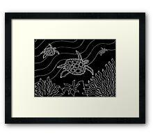 Goorlil - (turtle) monsoon season Framed Print