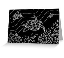 Goorlil - (turtle) monsoon season Greeting Card