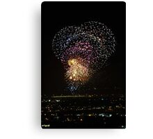 Australia Day Fireworks Canvas Print