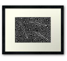 Barni - (goanna) monsoon season Framed Print