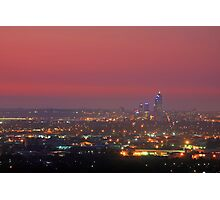 Perth At Dusk Photographic Print