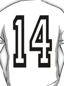 TEAM SPORTS, NUMBER 14, FOURTEEN, FOURTEENTH, Competition,  T-Shirt