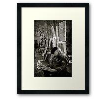 The Montmartre Reader Framed Print