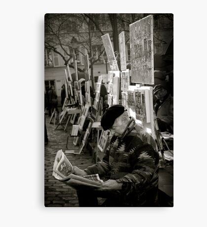 The Montmartre Reader Canvas Print