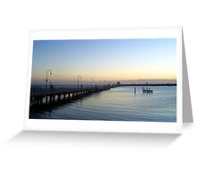 Sun Sets of Over St Kilda Pier   Greeting Card